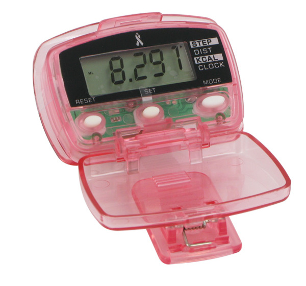Living Pink: Digital Step, Calorie & Distance Pedometer