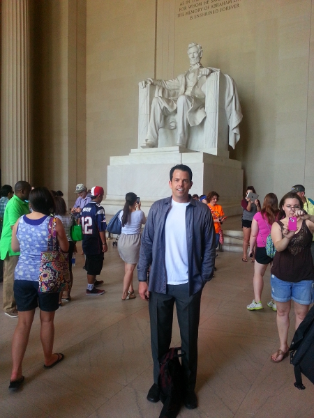 Mike Rucker at the Lincoln Memorial