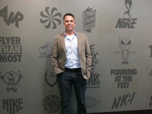 Mike Rucker at the Nike Corporate Campus, 2014